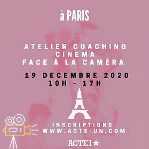 ATELIER CINÉMA - 23 JANVIER 2021