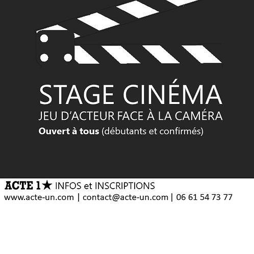 Granville STAGE CINEMA -L'ACTEUR FACE A LA CAMERA