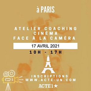 ATELIER CINEMA - 17 AVRIL 2021