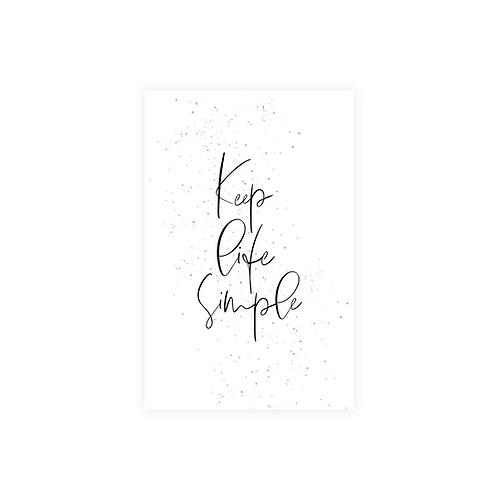 keep life simple kartīte