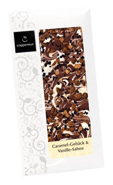 Schokolade Karamell-Gebäck & Vanille Sahne