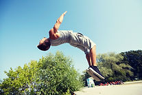 fitness, sport, parkour and people conce