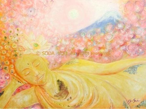 「 優涅槃 」2014年 Acrylic on canvas