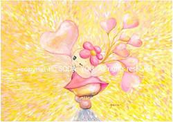 「 LOVEふらちゃ」 2012年 紙に水彩