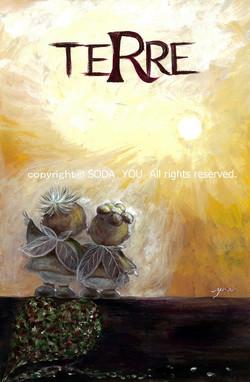 「terre」大地 2012年 紙に水彩