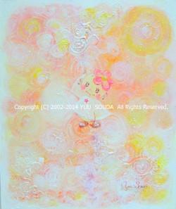 「 愛の光はいつもいっしょ 」2013年 Acrylic on canv