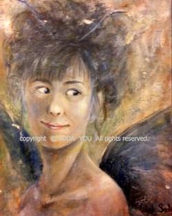 「 堕天使 」 油彩 1999年