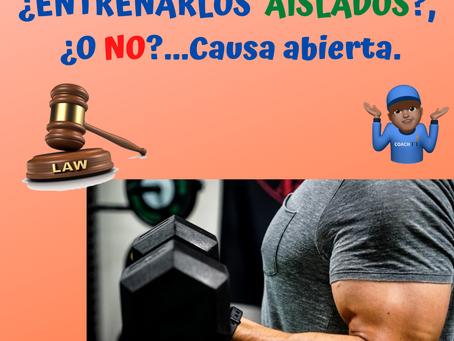 BRAZOS:¿ENTRENARLOS AISLADOS O NO?Tenemos Caso..