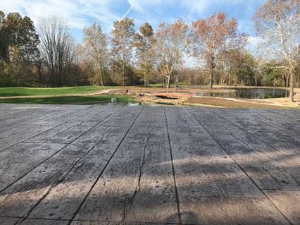 Reclaimed Timber Stamped Concrete