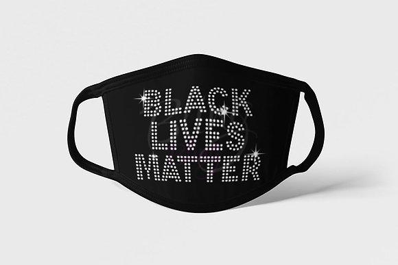 Rhinestone Black Lives Matter Mask