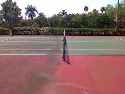 Tennis Court Before & After