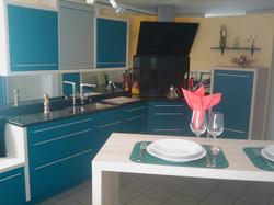 Küche blau