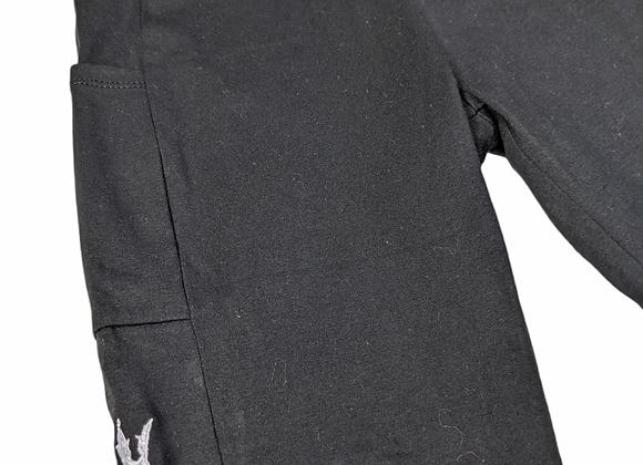 Black high rise L.F shorts