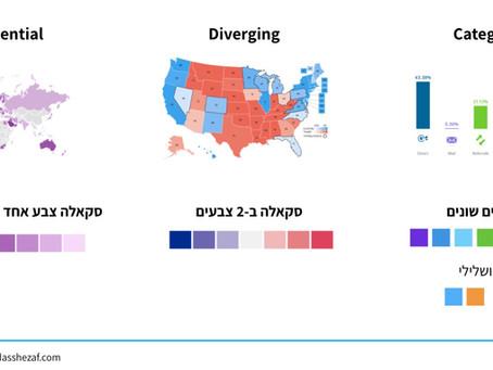 המדריך לצבע בדאטה ויז. חלק שני: איך בונים את הצבעוניות שלנו