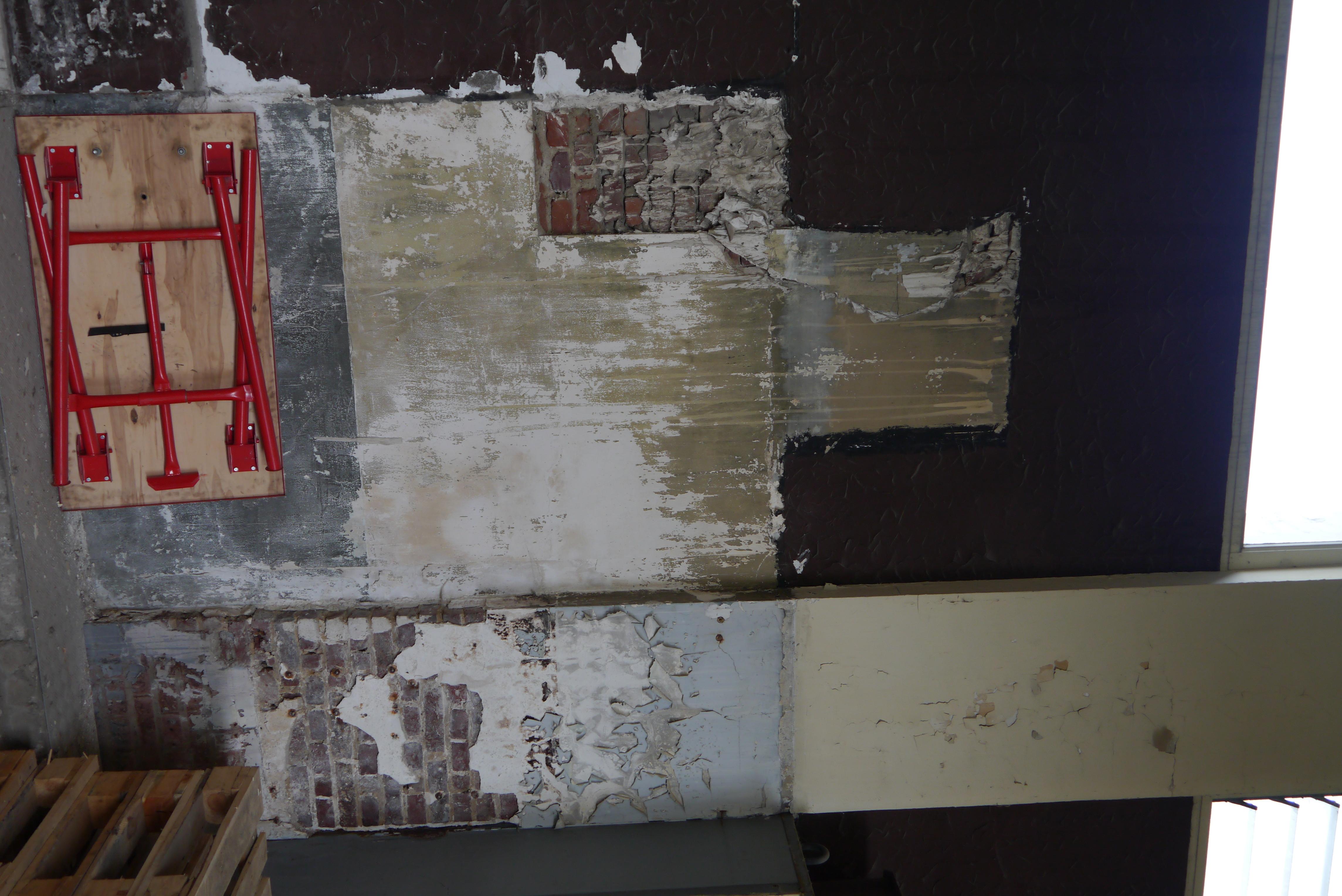 Murs dégradés