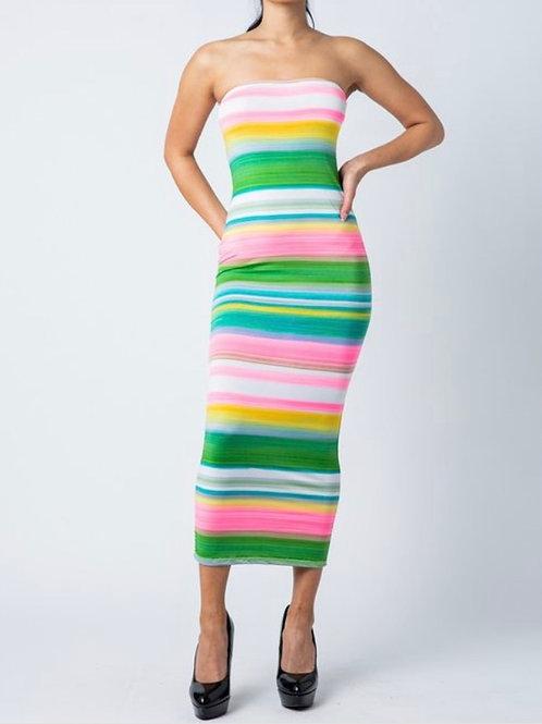 Spring tube dress
