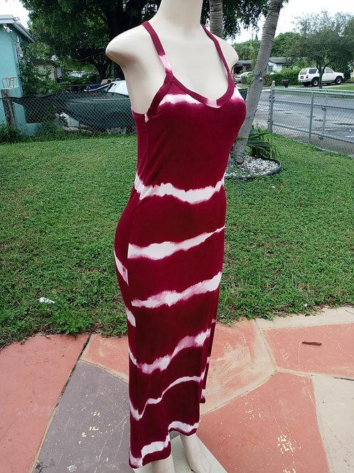 Sandy dress burgundy