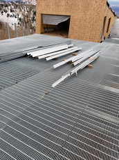 Heavy Duty Traffic Grating with Grating Handrail Inflay