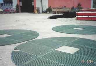 Radial Fiberglass Platforms