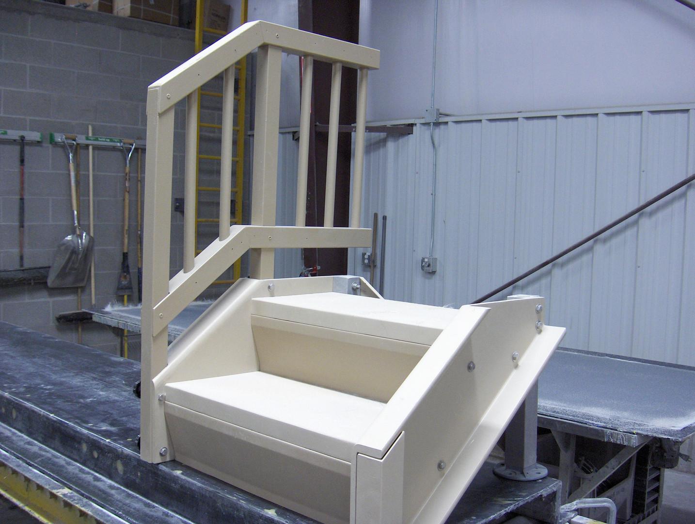 Custom Fiberglass Stair System