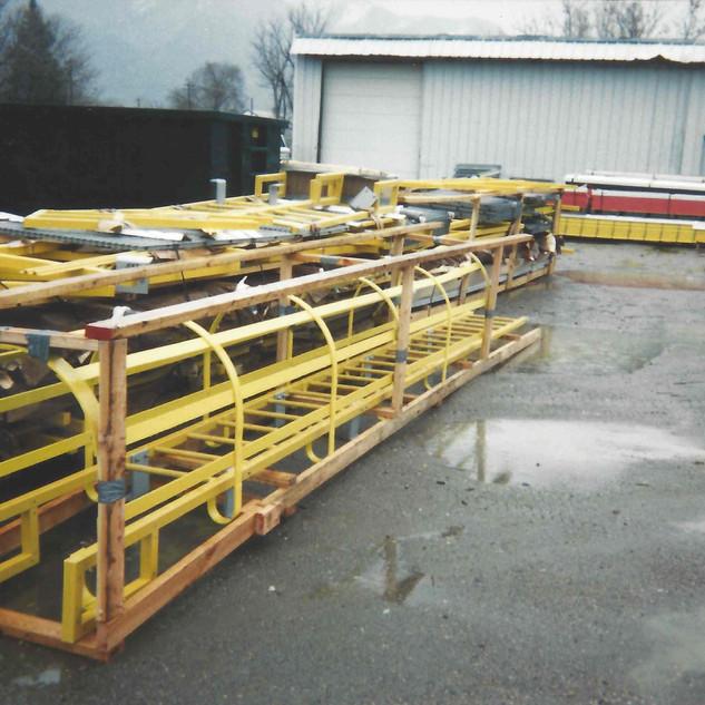 Caged Fiberglass Ladders