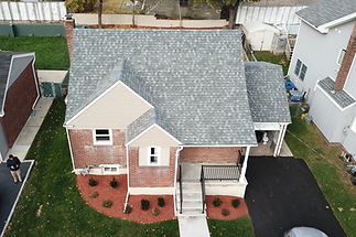 Using drone to inspect the roof whil completing a home inspection