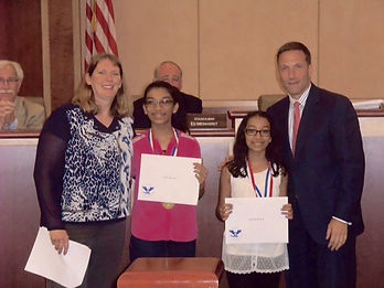 Anusha and Avika Bansal receive awards for community service at very young age.