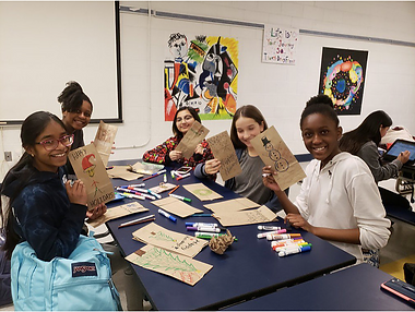 Builders club events to create cards for senior citizen members of community