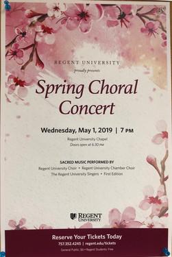 Regent Spring Concert '19