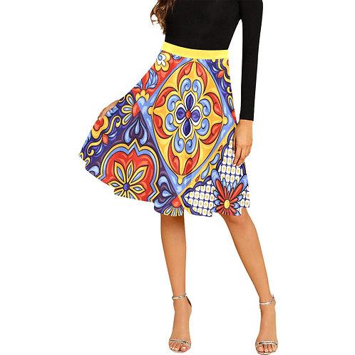 LD Etna Women's Pleated Midi Skirt