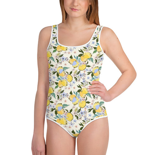LD Ladera Collection Viola All-Over Print Youth Swimsuit