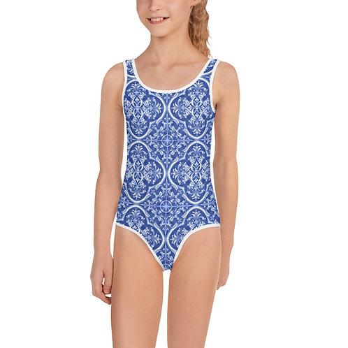 LD Celeste All-Over Print Kids Swimsuit