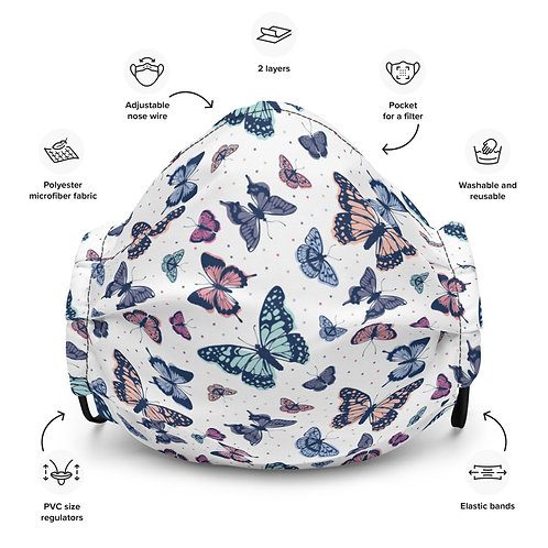 LD Farfalle Premium face mask