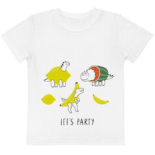 LD RJ Collection Let's party Dino Kids crew neck t-shirt
