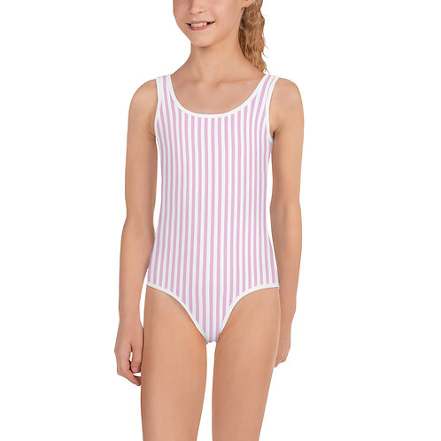 LD Rosa Seersucker All-Over Print Kids Swimsuit