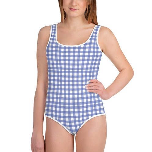 LD Gingham All-Over Print Youth Swimsuit