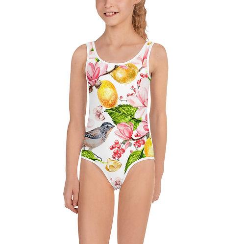 LD Farfalle All-Over Print Kids Swimsuit