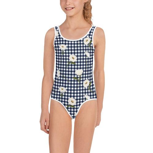 LD Gingham All-Over Print Kids Swimsuit