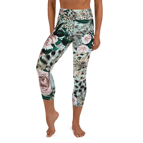 LD Leona Woman's  Yoga Capri Leggings