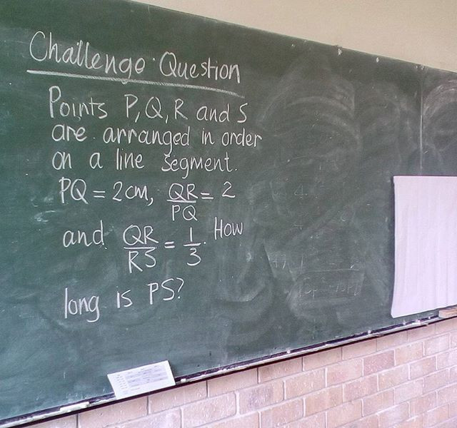 Context is  different, medium of instruction is different, but the Maths remains the same! #chalk #challenge #mathsteacher #rurallife #rural