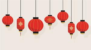 Image of red Chinese lanterns