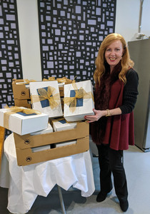 HR manager with all the thank you boxes