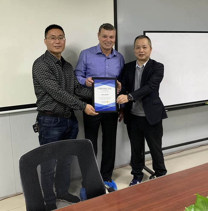 Presenting Certificate of Appreciation to our suppliers