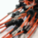 A collection of ignition lead double insulated cables