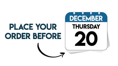 Image reminding to place orders by Thursday, 20 December