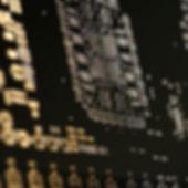 Stencil pattern against black background
