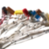 A set of cable assembly held together with cable ties