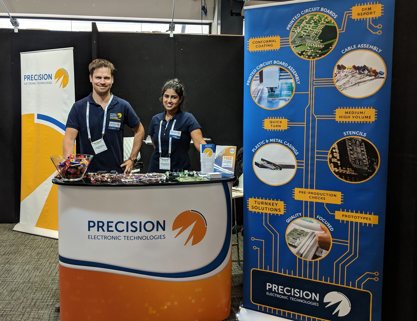 The Precision stand at Electronex 2018