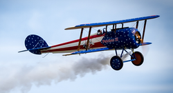Patriotic Biplane, Smoke On!