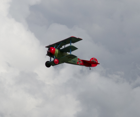 The Red Barron In Flight